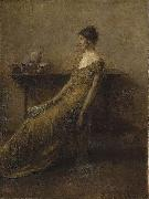 Thomas Dewing Lady in Gold oil painting reproduction