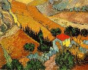 Vincent Van Gogh Valley with Ploughman Seen from Above china oil painting reproduction