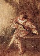 WATTEAU, Antoine Die Serenate oil painting reproduction