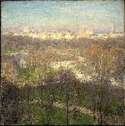 Willard Leroy Metcalf Early Spring Afternoon Central Park oil on canvas