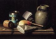 William Michael Harnett Still Life with Three Castles Tobacco china oil painting reproduction