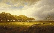 William Trost Richards Old Orchard at Newport oil