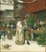 georg von rosen The Christmas Fair oil