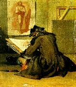 jean-simeon chardin tecknaren oil on canvas