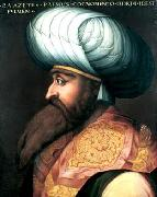 ALLORI  Cristofano Portrait of Bayezid I oil on canvas