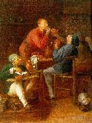 Adriaen Brouwer The Smokers or The Peasants of Moerdijk oil painting
