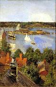 Akseli Gallen-Kallela View from North Quay china oil painting artist