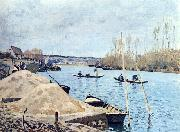 Alfred Sisley Seine bei Port Marly oil painting reproduction