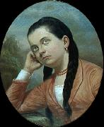 Almeida Junior Portrait of a young woman oil painting reproduction