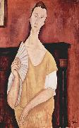 Amedeo Modigliani Woman with a Fan painting