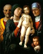 Andrea Mantegna Hl. Familie mit Hl oil painting reproduction