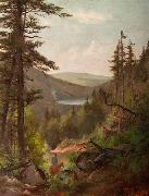 Anna Hills Horseback Rider at Echo Lake oil painting reproduction