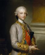 Anton Raphael Mengs Portrait of the Infante Gabriel of Spain oil painting