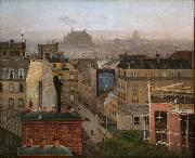 Antonin Chittussi Paris as Viewed from Montmartre oil on canvas