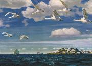 Arkady Rylov In the Blue Expanse oil