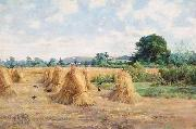 Arthur Boyd Houghton Wheatfield, Wiltshire oil on canvas