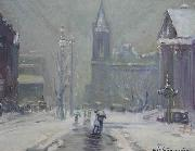 Arthur Clifton Goodwin Copley Square oil on canvas