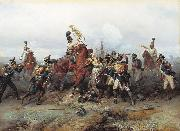Bogdan Villevalde Feat of Cavalry Regiment at the battle of Austerlitz in 1805. oil painting