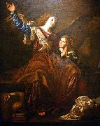 CAVAROZZI, Bartolomeo Guardian angel oil on canvas