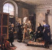 Carl Christian Vogel von Vogelstein Ludwig Tieck sitting to the Portrait Sculptor David d'Angers oil on canvas