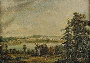 Carl Jonas Linnerhielm View over Hallsnas mansion oil on canvas