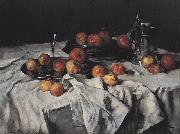 Carl Schuch Still Life with Apples, Wine-Glass and Pewter Jug oil on canvas