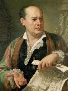 Carlo Labruzzi Posthumous portrait of Giovanni Battista Piranesi oil on canvas