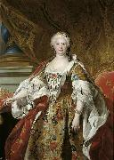 Charles Amedee Philippe Van Loo Official portrait of Queen Isabel de Farnesio oil on canvas