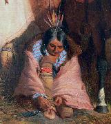 Charles Deas A Group of Sioux, detail oil on canvas