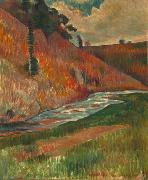 Charles Laval Aven Stream oil on canvas