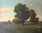 Charles S. Dorion summers day landscape oil on canvas