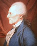 Charles Willson Peale Oil on canvas painting of Richard Henry Lee painting
