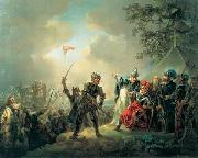 Christian August Lorentzen Dannebrog falling from the sky during the Battle of Lyndanisse, June oil on canvas