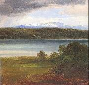 Christian Ernst Bernhard Morgenstern View Across Lake Starnberg to the Benedikte oil on canvas