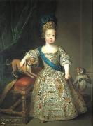 Circle of Pierre Gobert Portrait of Louis XV as a child oil on canvas