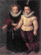 Cornelis Ketel Double Portrait of a Brother and Sister oil on canvas
