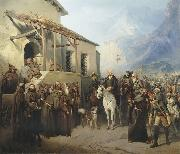 Creator:Adolf Charlemagne. Field Marshal Alexander Suvorov at the top of the St. Gotthard September 13 oil on canvas