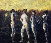 Davies Arthur Bowen Four Figures oil painting