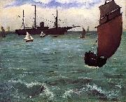 Edouard Manet Kearsarge at Bologne oil painting reproduction