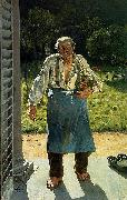 Emile Claus Old Gardener painting