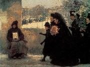 Emile Friant All Saints' Day oil