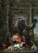 Erasmus Quellinus Still Life in an Architectural Setting oil painting reproduction
