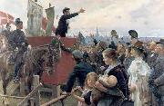 Erik Henningsen En agitator china oil painting reproduction