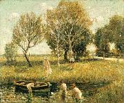 Ernest Lawson Boys Bathing oil painting reproduction