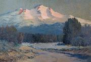 Ernst William Christmas Mountain View oil on canvas