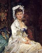 Eva Gonzales Portrait of a Woman in White oil painting reproduction