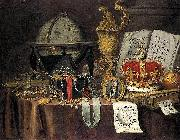 Evert Collier Vanitas Still Life oil on canvas