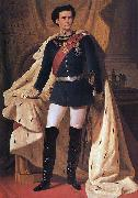 Ferdinand von Piloty King Ludwig II of Bavaria in generals' uniform and coronation robe oil