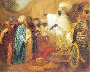 Franciszek Smuglewicz Ethiopian king meeting ambasadors of Persia china oil painting reproduction