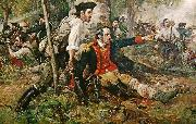 Frederick Coffay Yohn Herkimer at the Battle of Oriskany oil on canvas